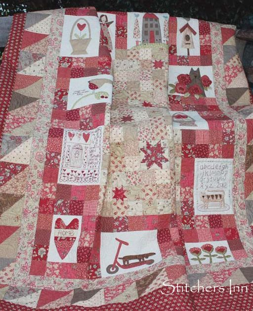 Red Home Applique Quilt BOM - Sing Up - Stitchers Inn : home quilt - Adamdwight.com