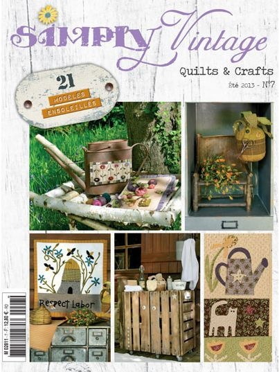 Simply Vintage Nr. 7 - Revista francesa de Quilts & Crafts