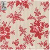Northport Prints - Cream and Red Cottage Curtains